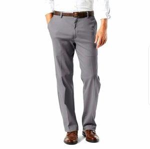 Hagger Plain Front No Iron Straight Khaki Pants